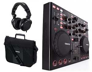 Reloop Mixage IE Interface Edition Set комплект из DJ миди контроллера, сумки Reloop Controller Bag black, наушников Reloop RH-2500 MK2